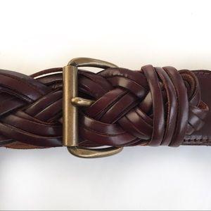 The Limited Braided Leather Belt Size Medium